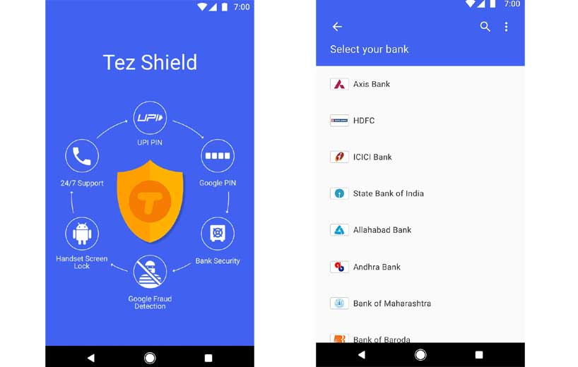 Google Pay (Tez) upi payment app for android and iOS