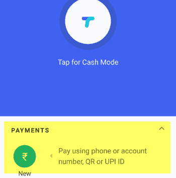 Bill Payment Feature of Tez