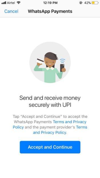 whatsapp upi payment
