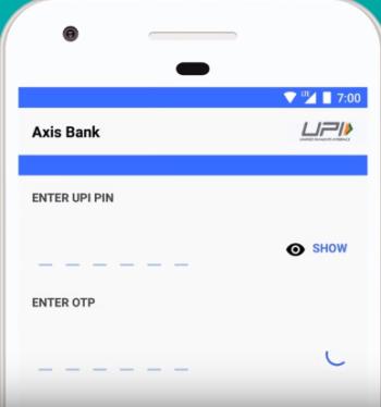 enter OTP and new UPI PIN