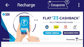 sbi pay cashback offers on recharge
