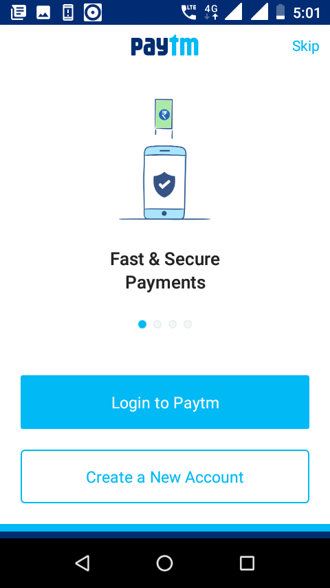 Create New Paytm Account