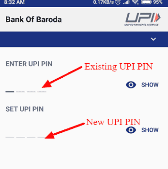 Phonepe New UPI PIN