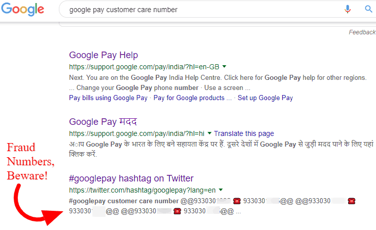 Google Pay (Tez) Customer Care Toll-free Helpline Number