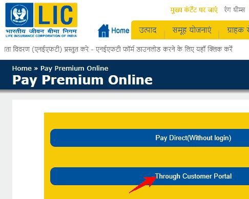 pay through customer portal
