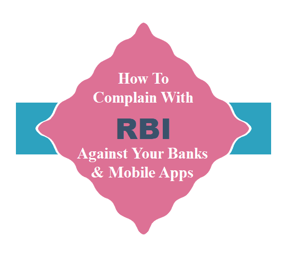 Online Complaints To RBI